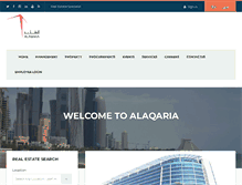 Tablet Preview of alaqaria.com.qa